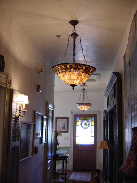 Seven Sisters B&B upstairs hallway showing Paris room and Egypt (R)