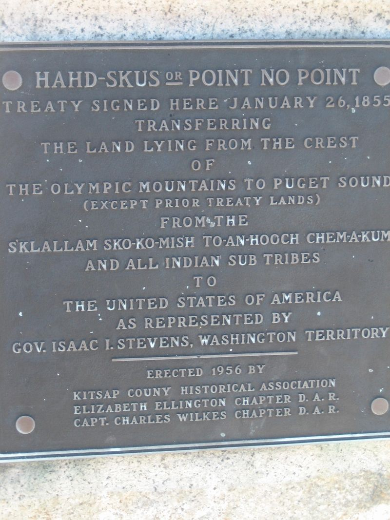 Closeup of plaque on rock at Point No Point lighthouse, Hansville, WA 2006