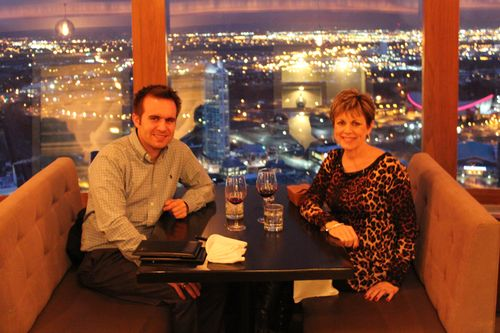 Dinner at Calgary Tower, Canada May 3, 2011 060