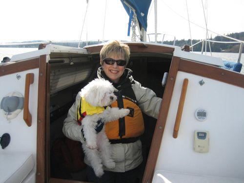 Sailing on Liberty Bay in Poulsbo, WA Feb 21, 2008 006