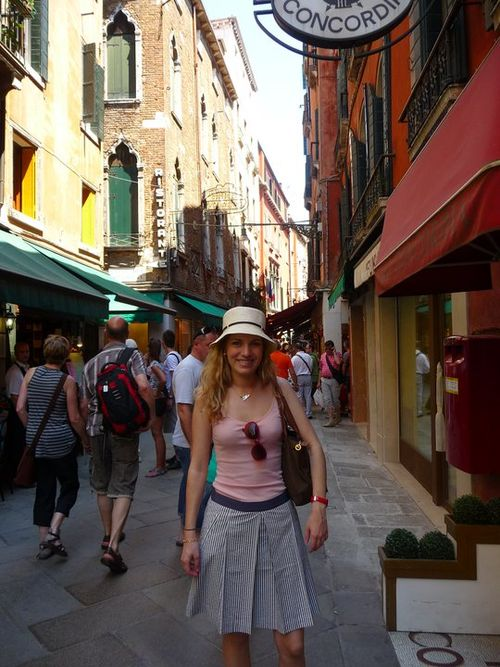 Amy on streets of Italy