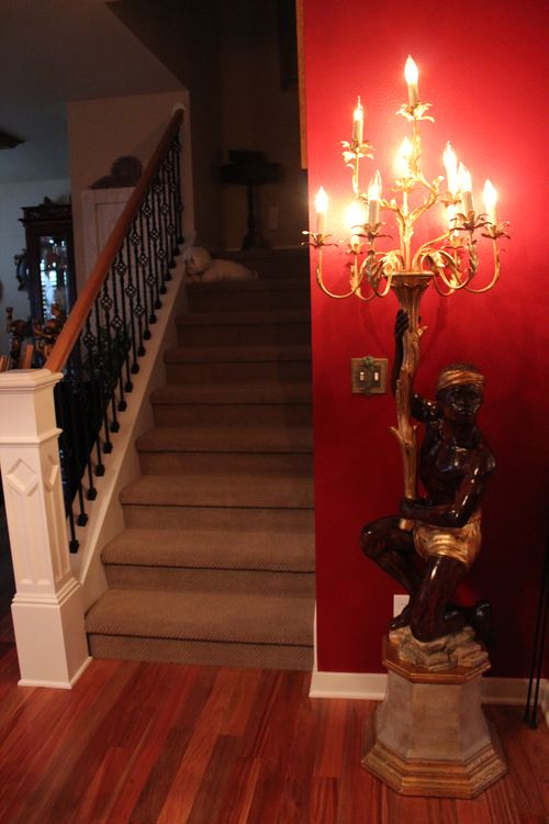 Dining room  Heirloom Red Vlaspar from Lowe's 022