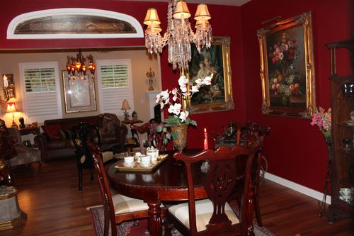 Dining room  Heirloom Red Vlaspar from Lowe's 024