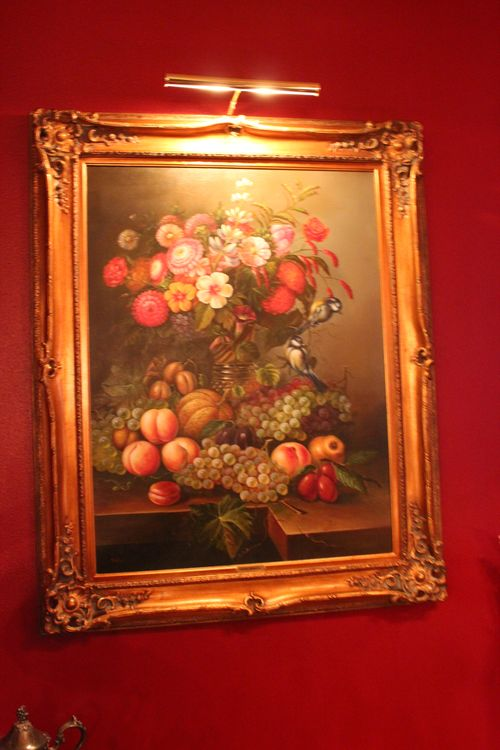 Dining room  Heirloom Red Vlaspar from Lowe's 072