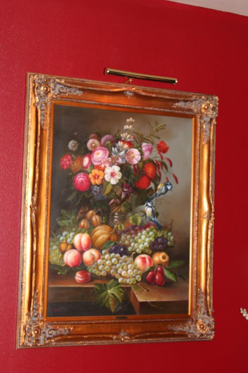 Dining room  Heirloom Red Vlaspar from Lowe's 030