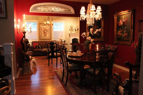 Dining room  Heirloom Red Vlaspar from Lowe's 101