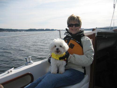 Sailing on Liberty Bay in Poulsbo, WA Feb 21, 2008 009