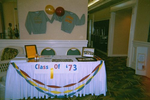 Sign in table for class of 73