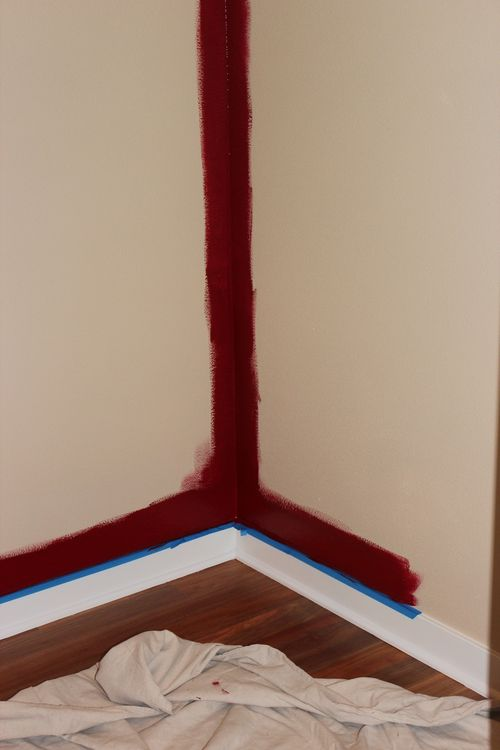 Dining room  Heirloom Red Vlaspar from Lowe's 005