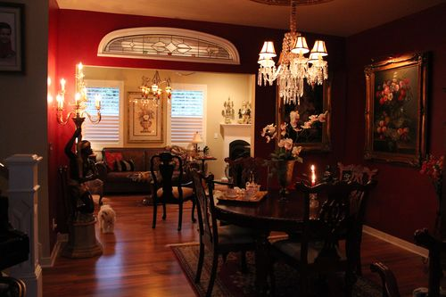 Dining room  Heirloom Red Vlaspar from Lowe's 100
