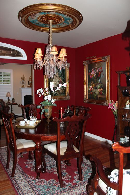 Dining room  Heirloom Red Vlaspar from Lowe's 049