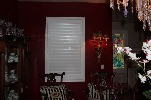 Dining room  Heirloom Red Vlaspar from Lowe's 058