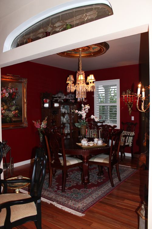 Dining room  Heirloom Red Vlaspar from Lowe's 007