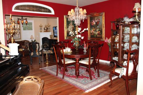 Dining room  Heirloom Red Vlaspar from Lowe's 054