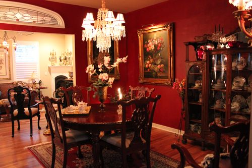 Dining room  Heirloom Red Vlaspar from Lowe's 092