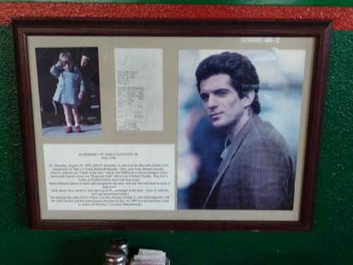 John F. Kennedy, Jr., at That's A Some Italian Restaurant