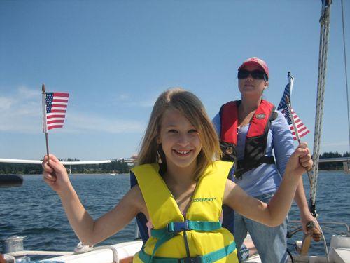 Ashley, Brenna, Mark, Kim and Sadie sailing July 09 072
