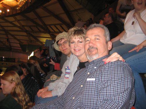Mark, Kim and Elliott at concert