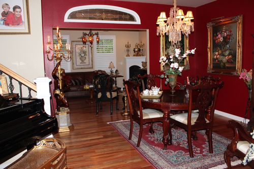 Dining room  Heirloom Red Vlaspar from Lowe's 012