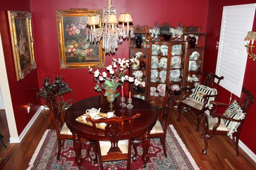 Dining room  Heirloom Red Vlaspar from Lowe's 036