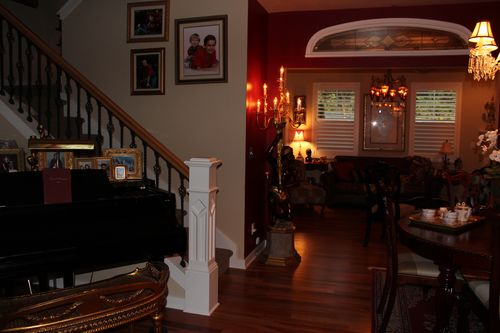 Dining room  Heirloom Red Vlaspar from Lowe's 017