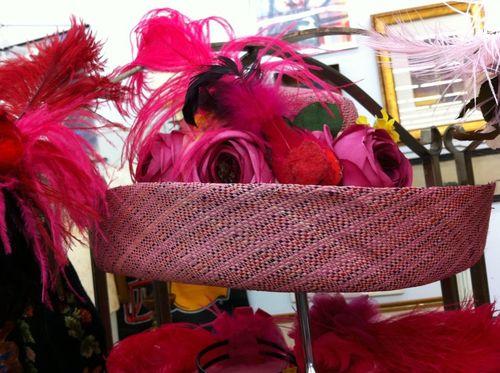Jeri's pink hat